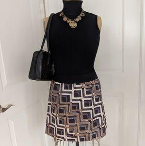 Banana Republic Black and Tan Skirt Sz 6